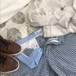 Checkered J Crew shorts